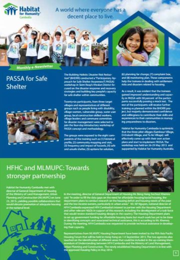 PASSA For Safe Shelter